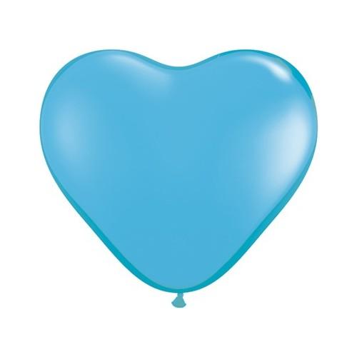 Balon srce 15 cm - svijetlo plav