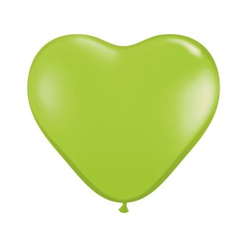 Balon srce 15 cm - svijetlo zelen