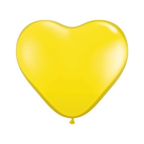 Balon srce 15 cm - limun žuti