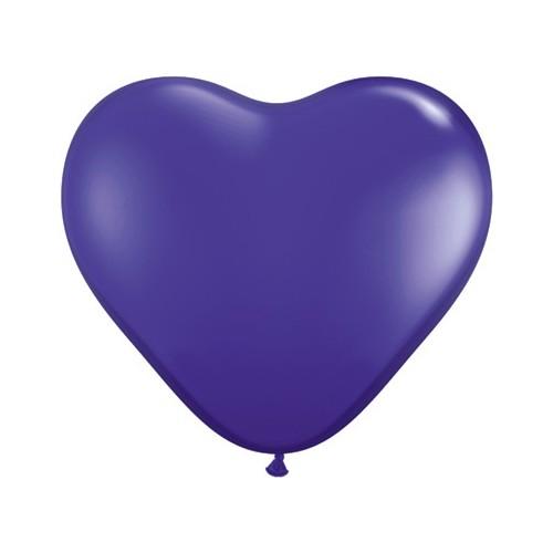 Balon srce 15 cm - tamno ljubičast