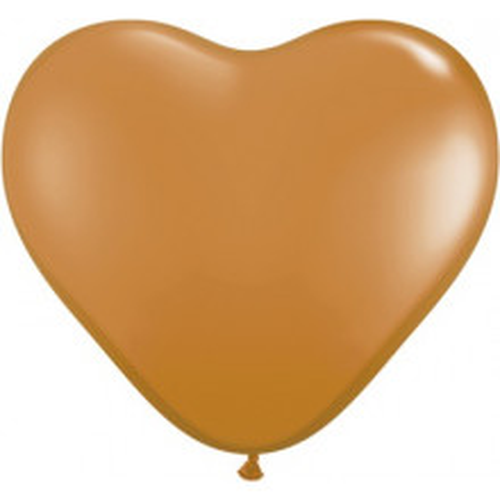 Balon srce 15 cm - moka smeđa