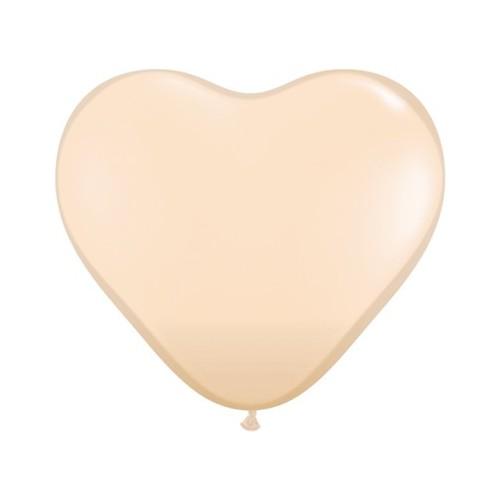 Balon srce 15 cm - blush