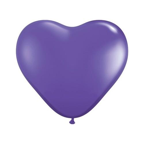 Balon srce 15 cm - ljubičast