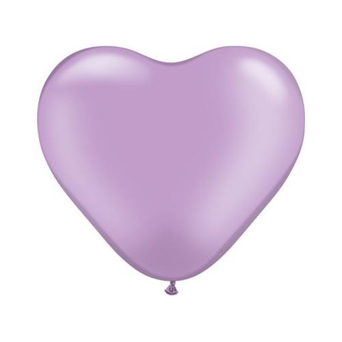 Balon srce 15 cm - pearl lavanda