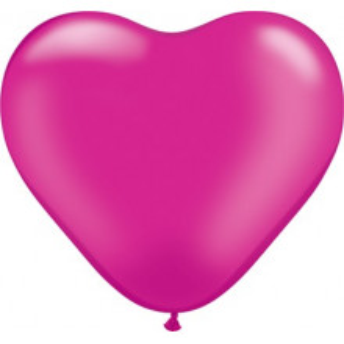 Balon srce 15 cm - pearl magenta
