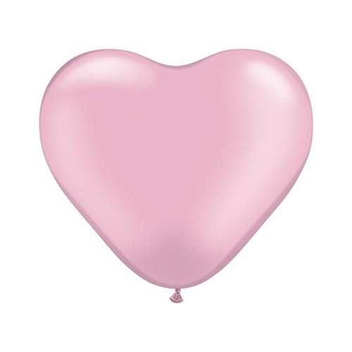 Balon srce 15 cm - pearl svijetlo ružičast