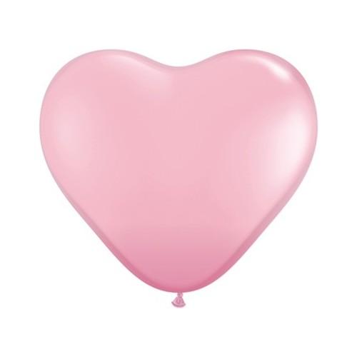 Balon srce 38 cm - svijetlo ružičast