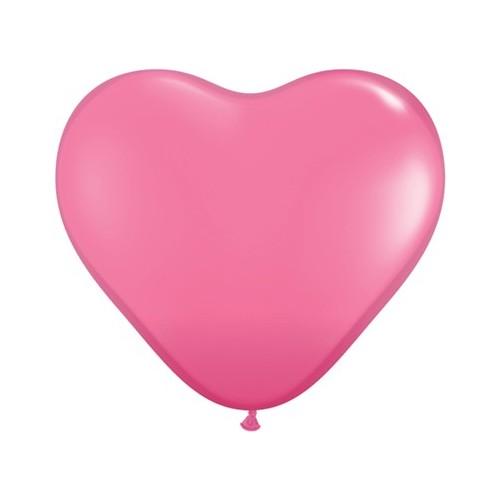 Balon srce 38 cm - tamno ružičast