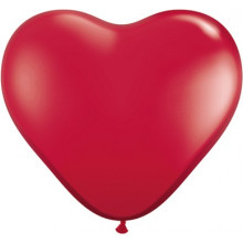 Balon srce 38 cm - rubin crvena