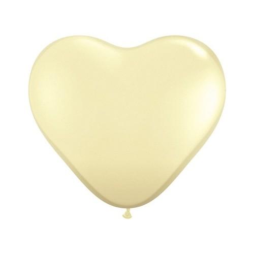 Balon srce 90 cm - krem