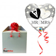 Mr & Mrs Wedding - folija balon u paketu