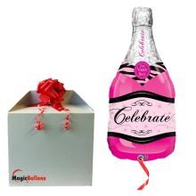 Celebrate pink bubbly wine...