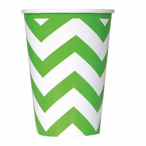 Chevron svijetlo zelene čaše