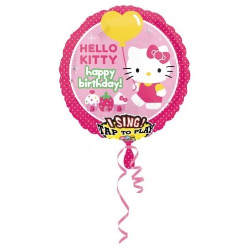Hello Kitty - pjevajući folija balon u paketu