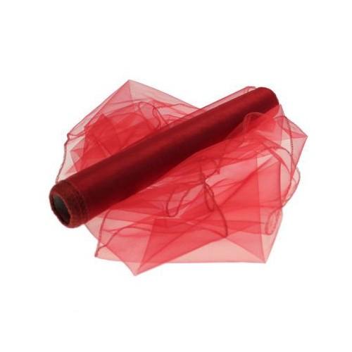 Organza temno rdeča