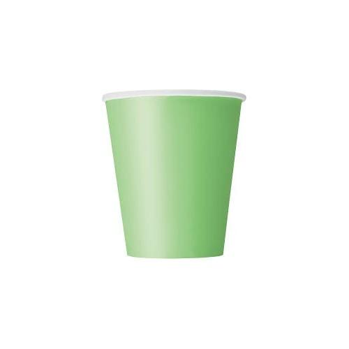 Čaše 270 ml - svijetlo zelena 8 kom