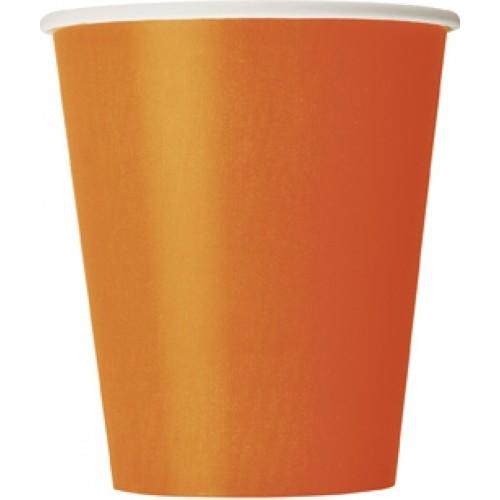 Čaše 270 ml - narančasta 8 kom