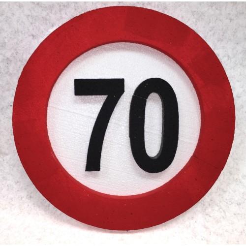 Prometni znak ukras 70