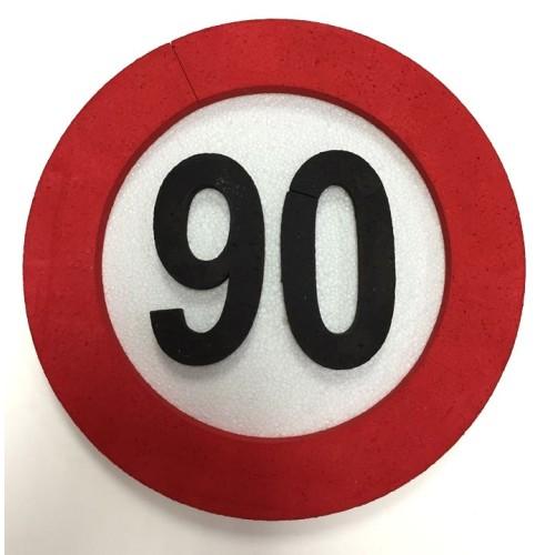 Prometni znak ukras 90