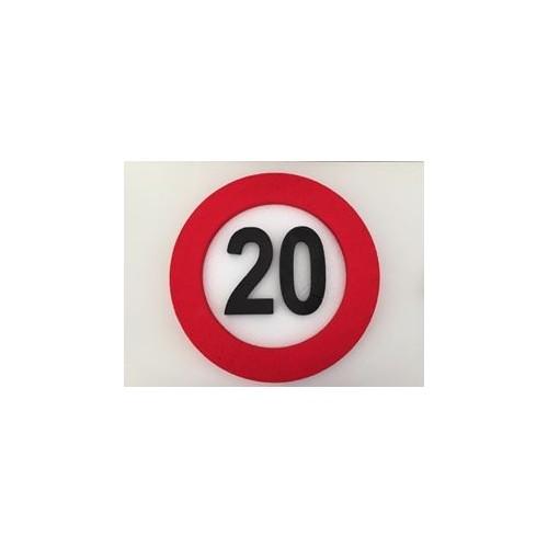 Prometni znak ukras 20