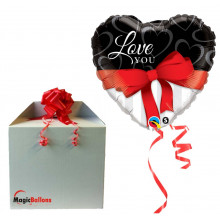 Love you red ribbon - folija balon u paketu