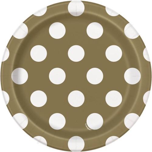 Zlatni tanjuri sa točkicama...