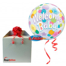 Welcome Baby Colourful Dots...