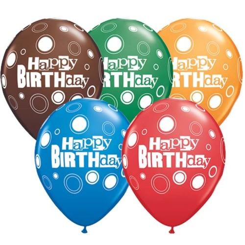 Balon Birthday Bold Dots