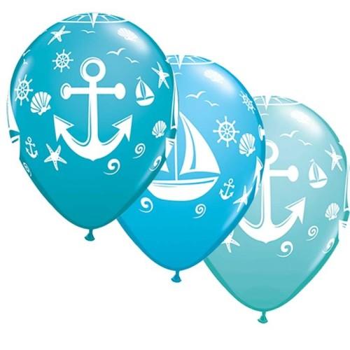 Balon Nautical sailboat & anchor