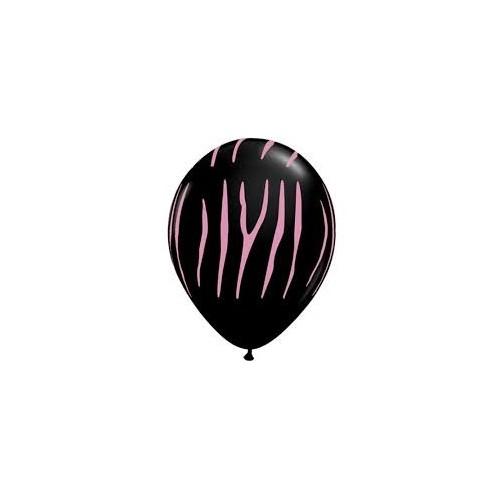 Balon Zebra stripes - crna