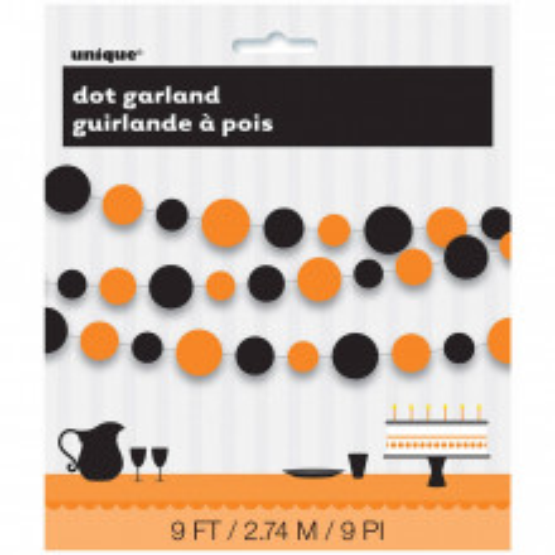 Narančasta & crna girlanda