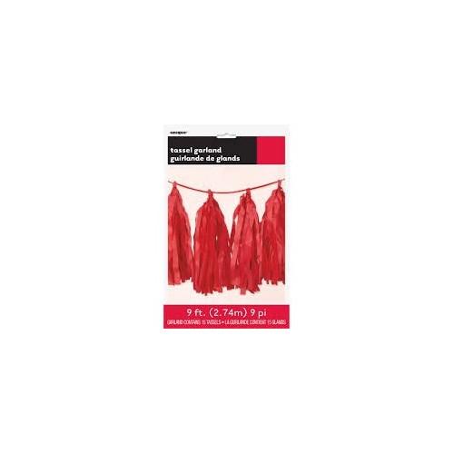 Girlanda sa pom pom - crvena