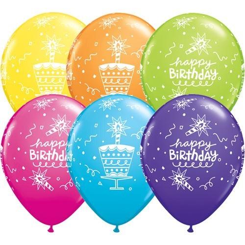 Balon Bday Cake & Candle