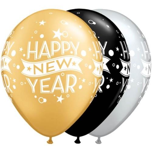 Balon New Year Confetti Dots