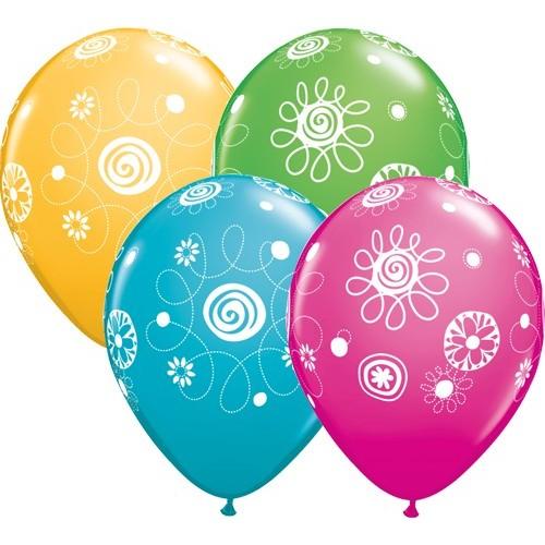 Balon Scribble Circles & Flowers