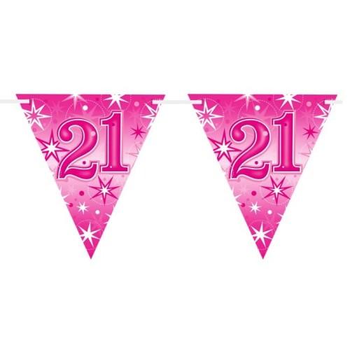 Age 21 pink Sparkle zastavice