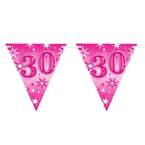 Age 30 pink Sparkle zastavice