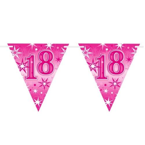 Age 18 pink Sparkle zastavice