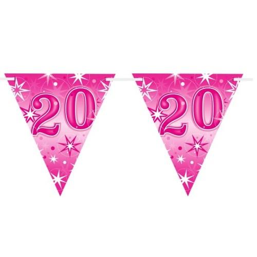 Age 20 pink Sparkle zastavice
