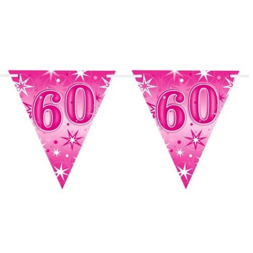 Age 60 pink Sparkle zastavice