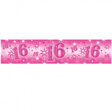 Age 16 pink Sparkle banner