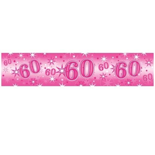 Age 60 pink Sparkle banner