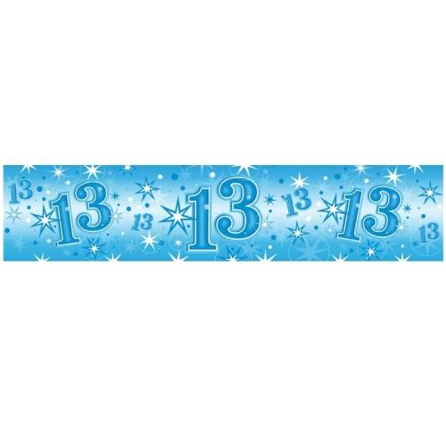 Age 13 blue Sparkle banner