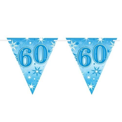 Age 60 blue Sparkle zastavice