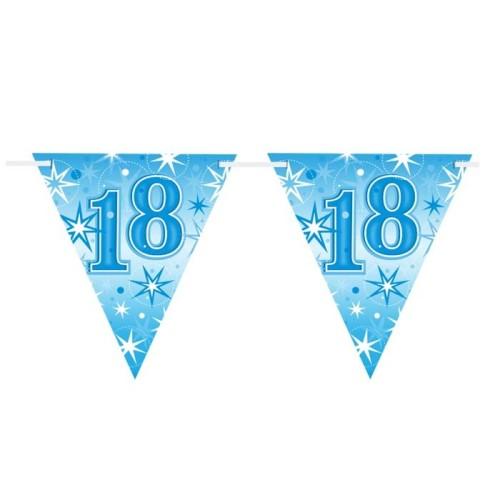 Age 18 blue Sparkle zastavice