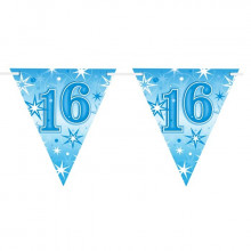 Age 16 blue Sparkle zastavice