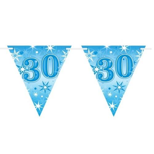 Age 30 blue Sparkle zastavice