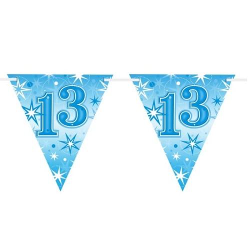 Age 13 blue Sparkle zastavice