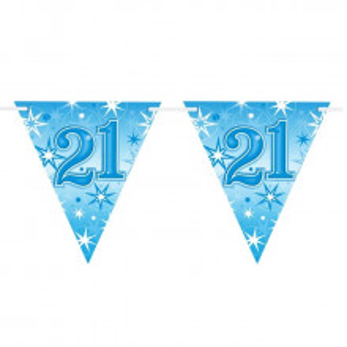 Age 21 blue Sparkle zastavice