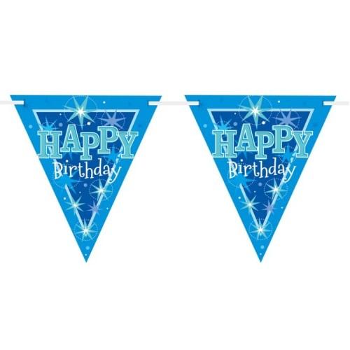 Happy Birthday blue Sparkle zastavice